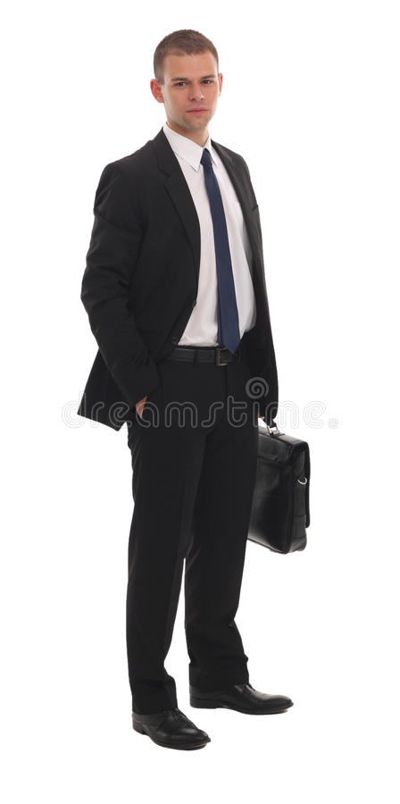 Portret van een slimme bedrijfsmens stock foto