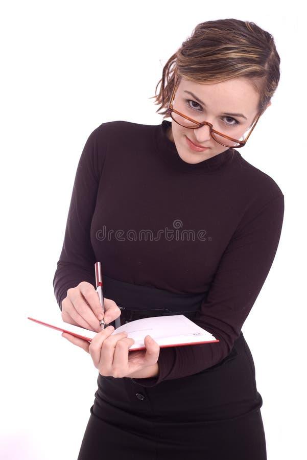 Portret van een succesvolle jonge bedrijfsvrouw stock foto's