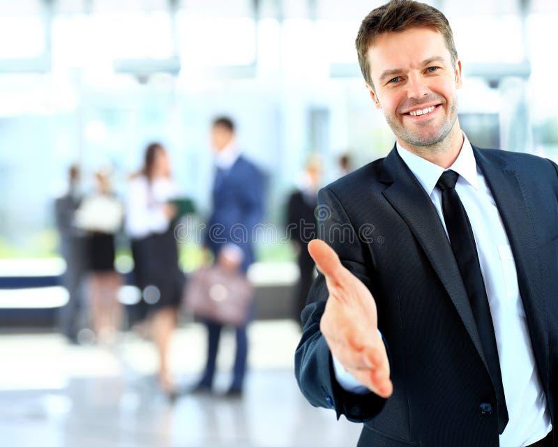 Portret van een succesvolle zakenman stock foto's