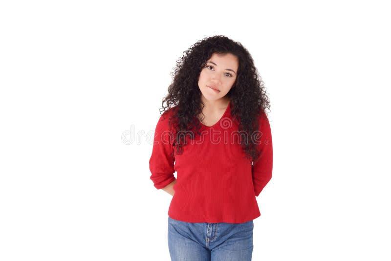Portret van een teleurgesteld leuk meisje stock foto
