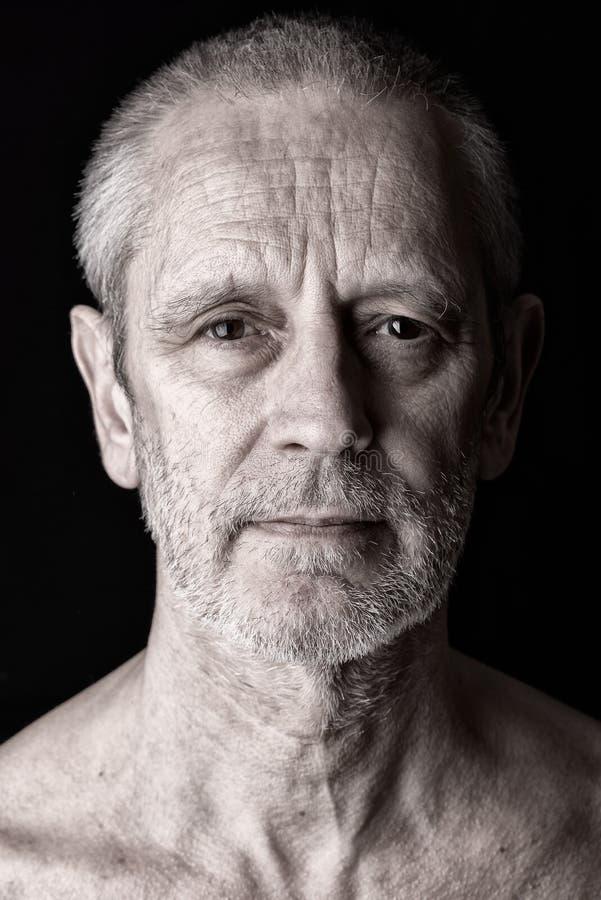 Portret van een Tevreden en Zekere Mens royalty-vrije stock afbeelding