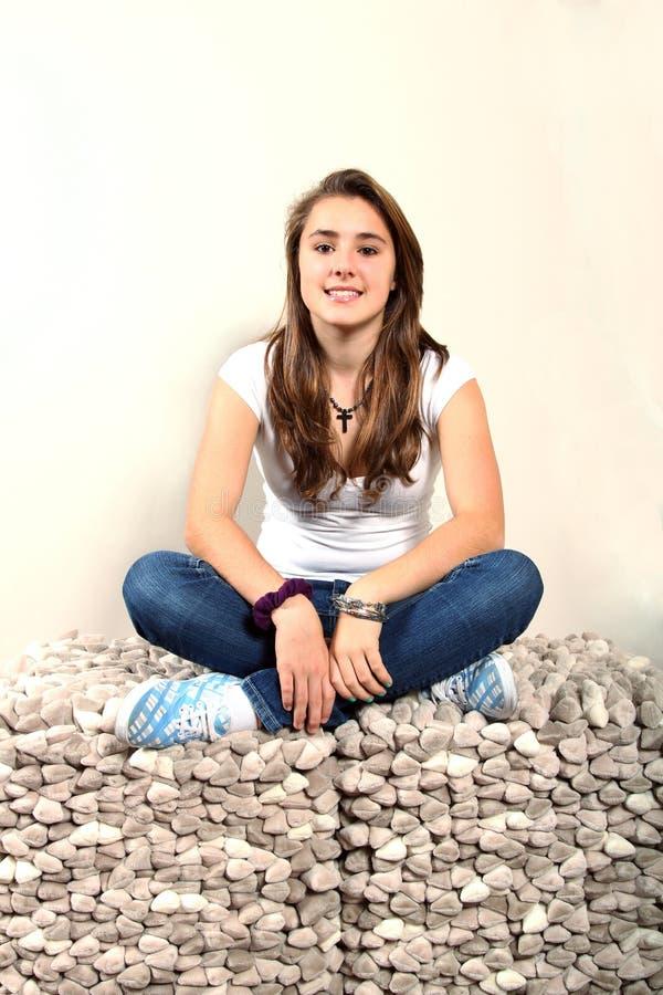 Portret van een tiener stock afbeelding