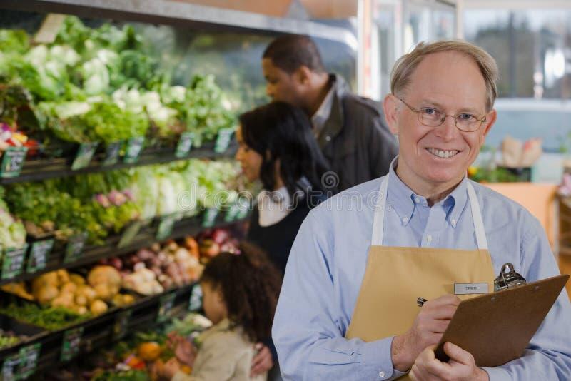 Portret van een verkoopmedewerker stock afbeeldingen
