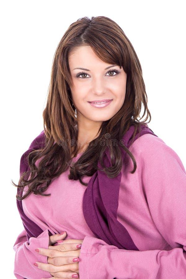 Portret van een verse en mooie vrouw stock foto