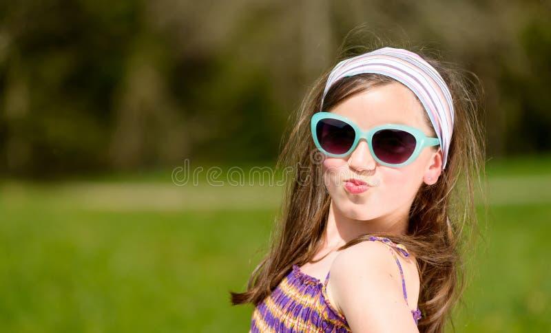 Portret van een vrij jong meisje stock afbeelding