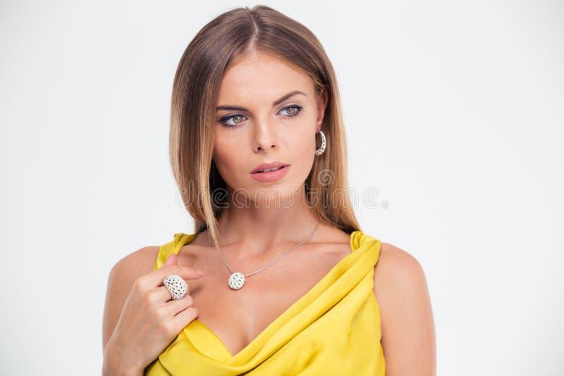 Portret van een vrij vrouwelijk model royalty-vrije stock fotografie