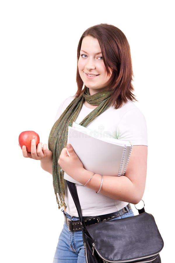 Portret van een vrij vrouwelijke student stock foto