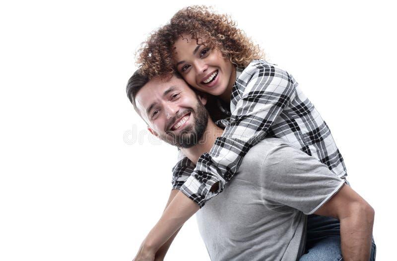 Portret van een vrolijk en gelukkig echtpaar stock afbeeldingen