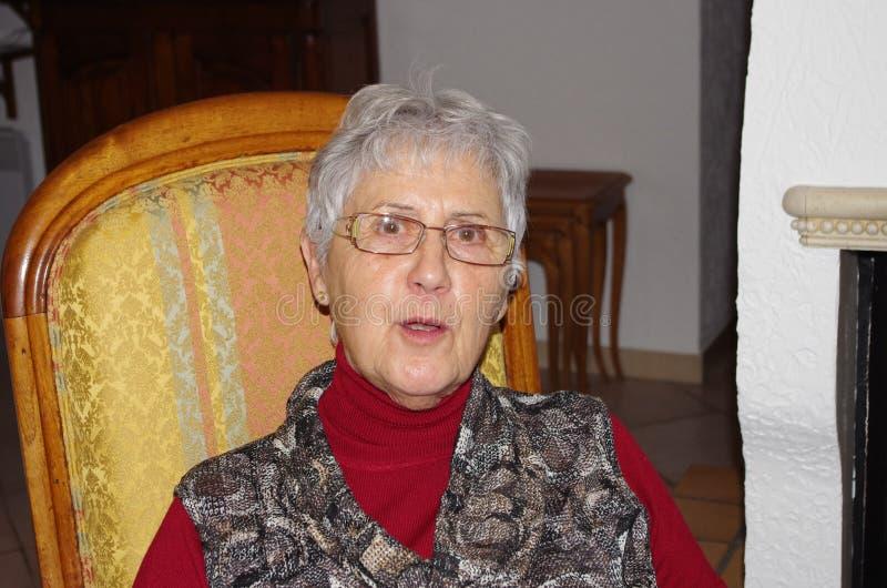 Portret van een vrouw stock afbeelding