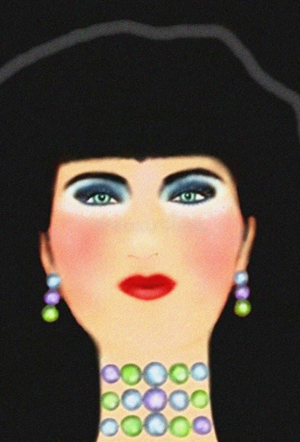 Portret van een vrouw stock illustratie