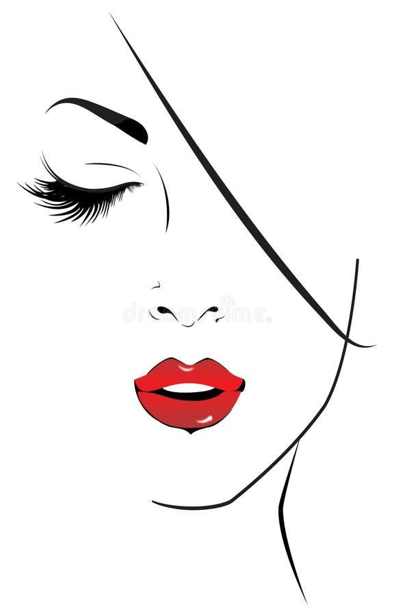 Portret van een vrouw royalty-vrije illustratie