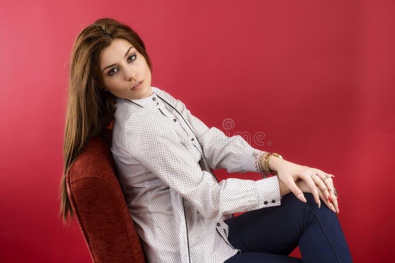 Portret van een vrouwelijke mannequin royalty-vrije stock foto