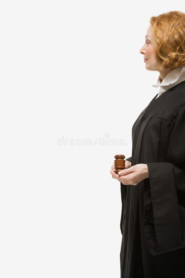 Portret van een vrouwelijke rechter royalty-vrije stock afbeelding