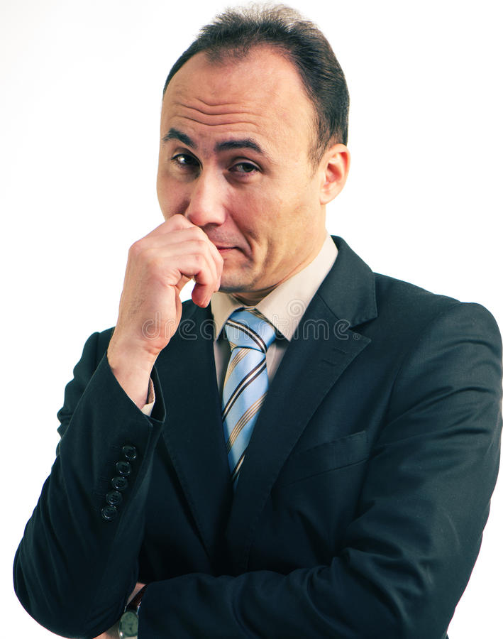 Portret van een werkgever stock foto