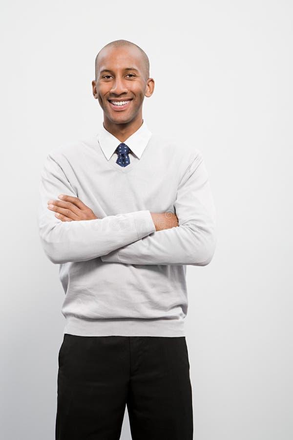 Portret van een zakenman stock afbeelding