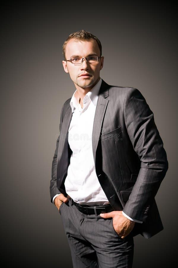 Portret van een zakenman stock fotografie