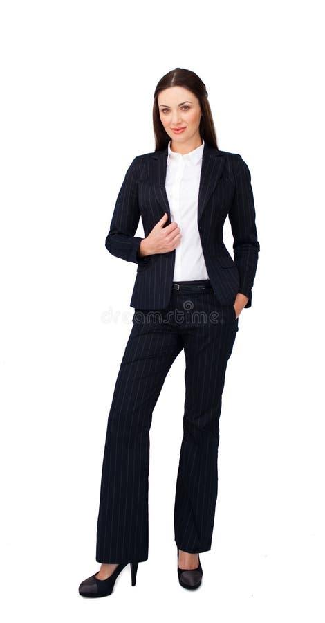 Portret van een zekere onderneemster status stock foto's