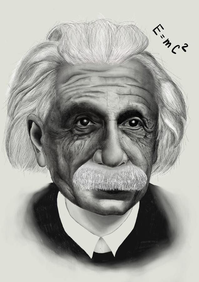 Portret van Einstein stock illustratie