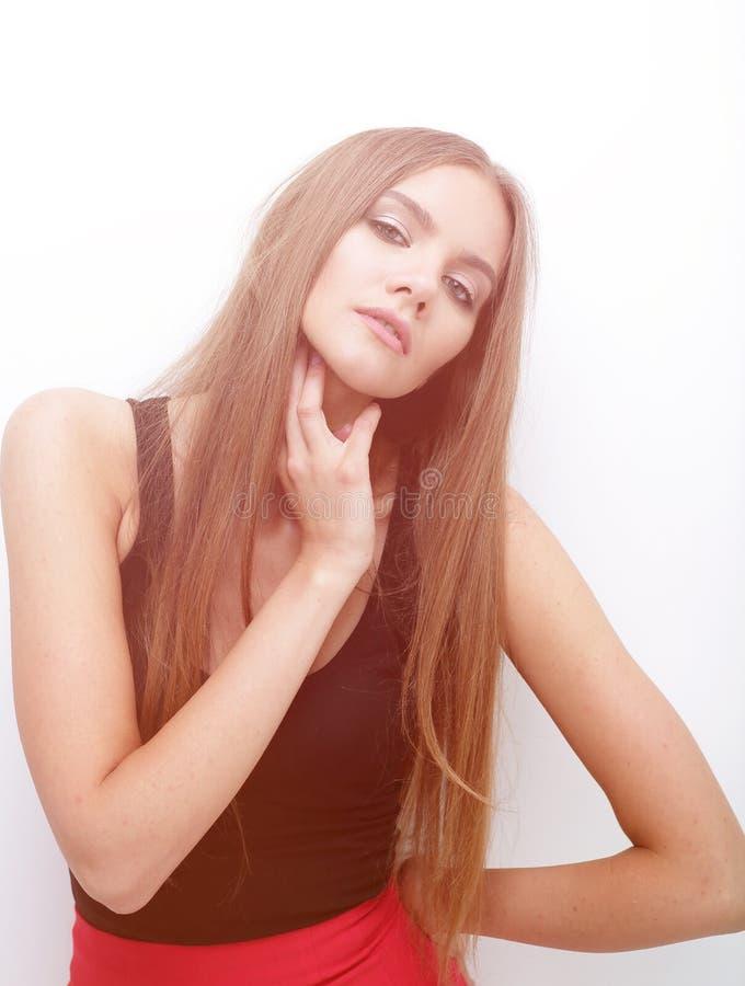 Portret van elegant meisjesmodel royalty-vrije stock foto