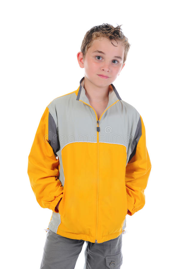 Portret van emotioneel jongen. royalty-vrije stock afbeeldingen