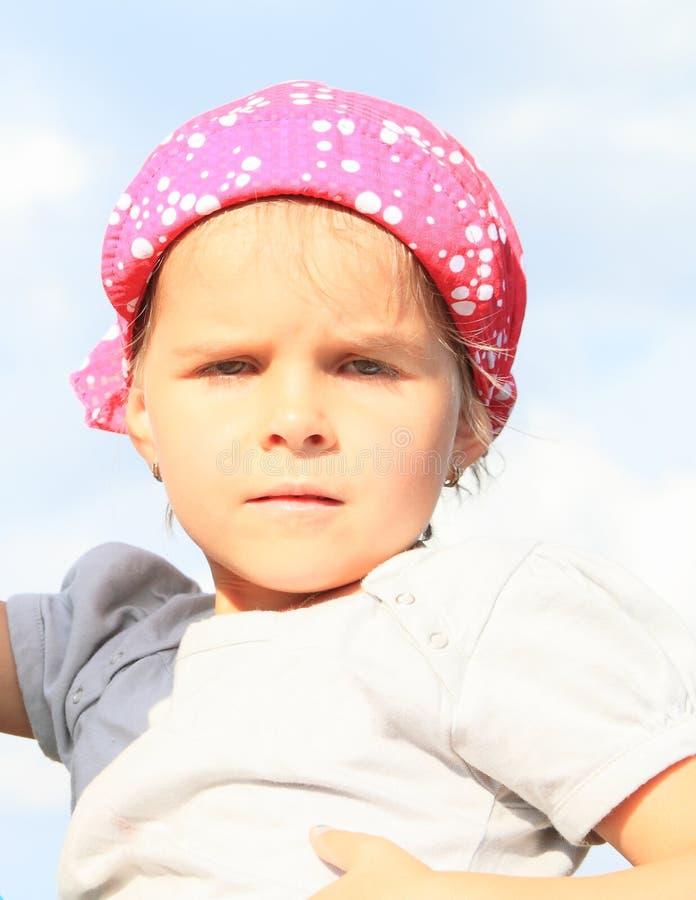 Portret van ernstig meisje stock fotografie