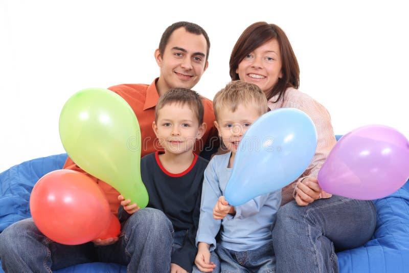 Portret van familie stock afbeeldingen