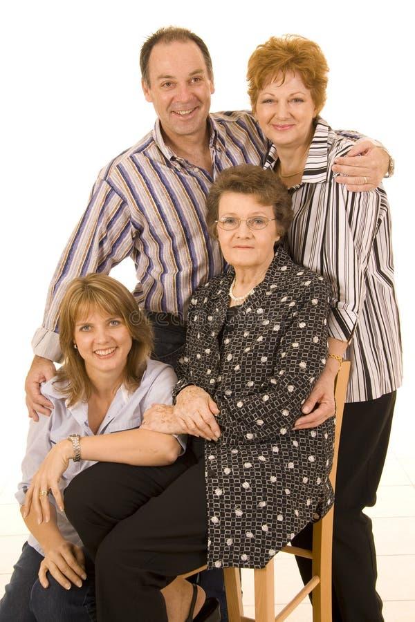 Portret van familie stock foto's