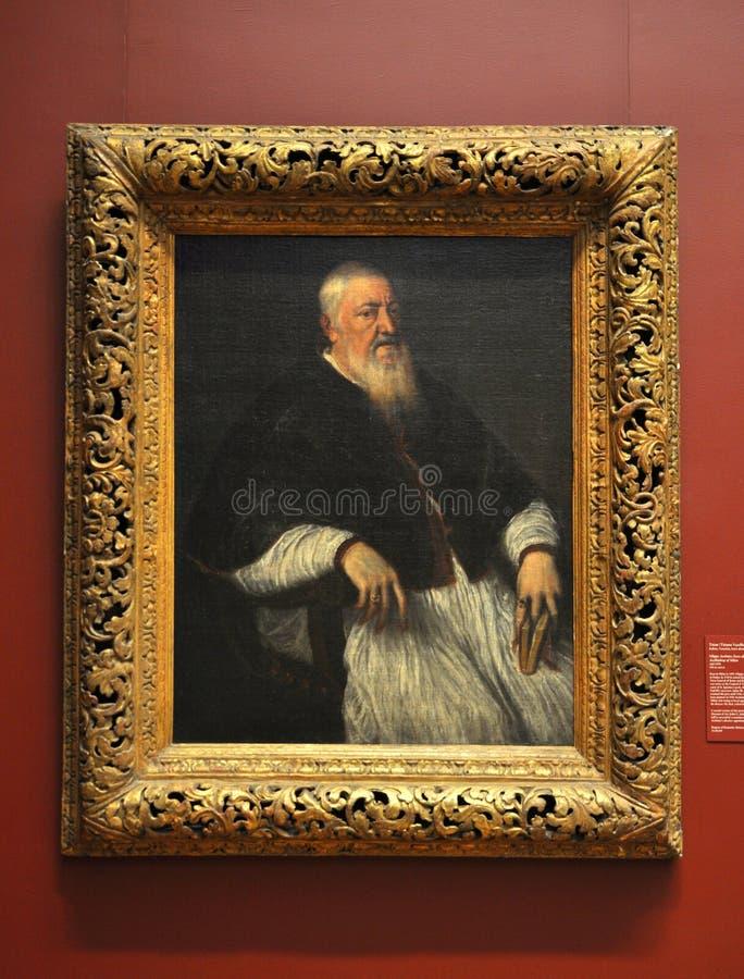 Portret van Filippo Archinto, door Titian royalty-vrije stock afbeeldingen