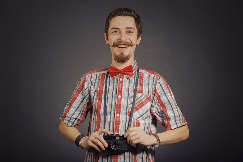Portret van gebaarde hipster royalty-vrije stock foto's