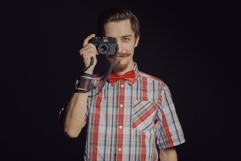 Portret van gebaarde hipster royalty-vrije stock afbeelding