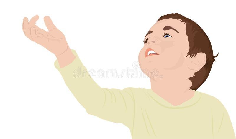 Portret van gelukkig kind vector illustratie
