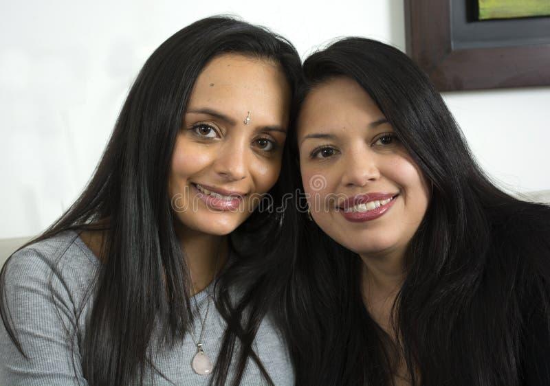 Portret van gelukkig lesbisch paar royalty-vrije stock afbeelding