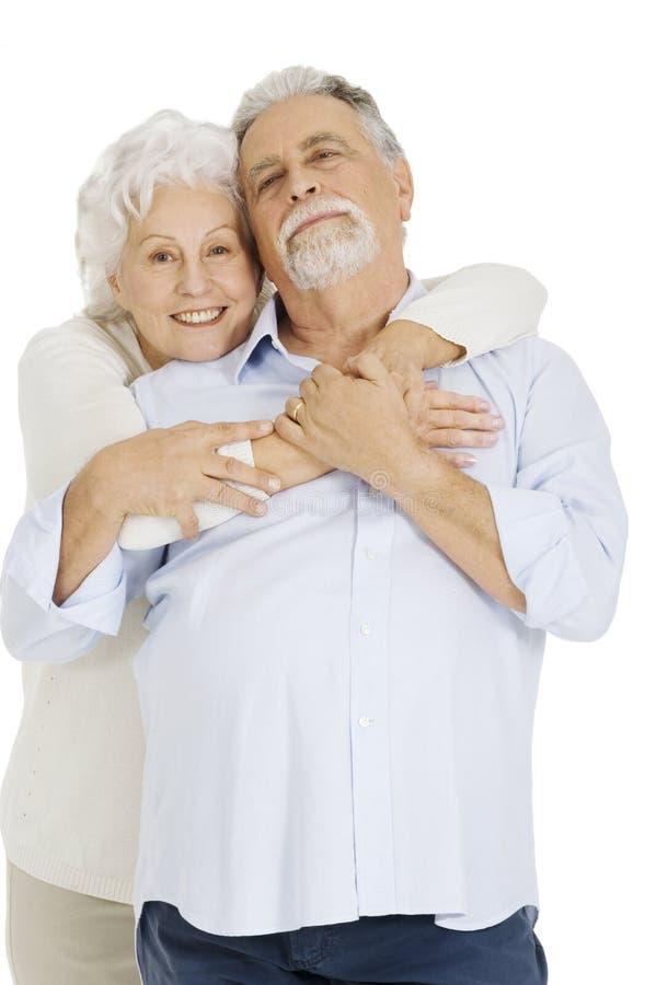 Portret van gelukkig paar van bejaarden royalty-vrije stock foto