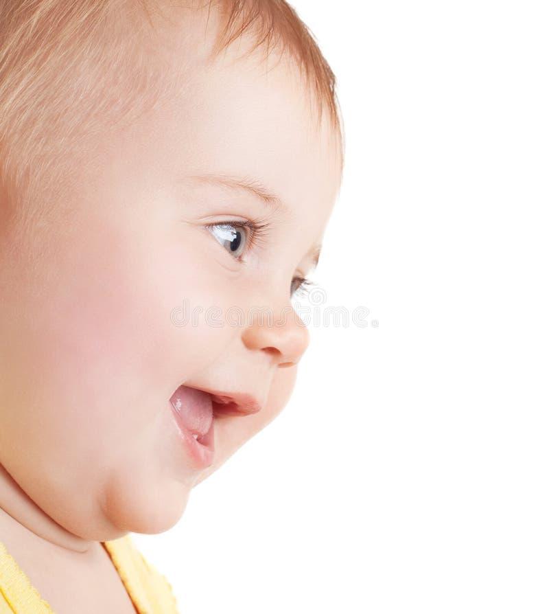 Portret van gelukkige baby stock foto's
