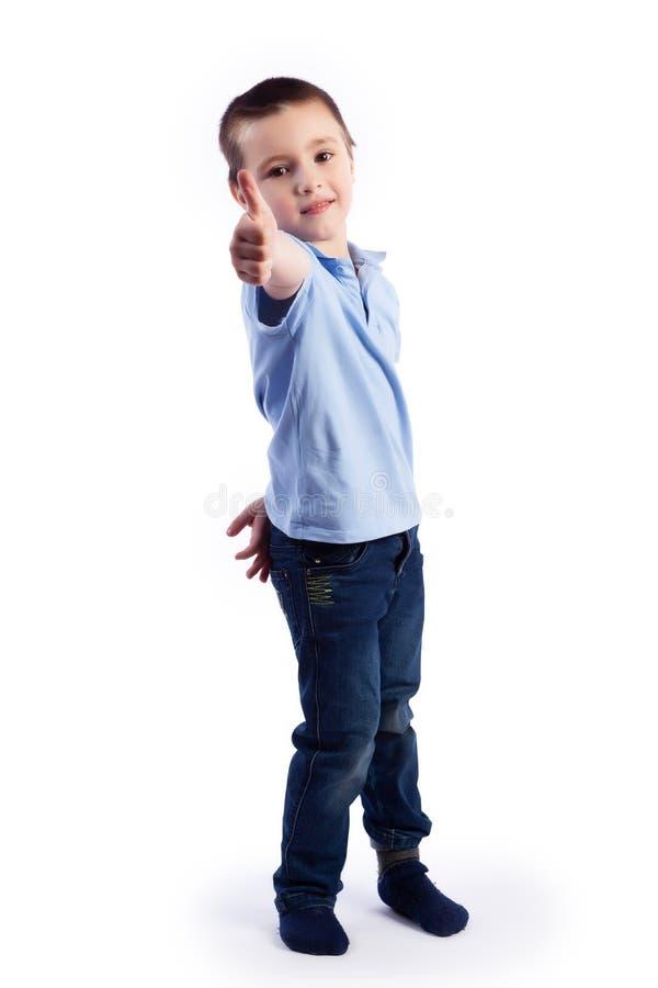 Portret van gelukkige blije mooie jongen royalty-vrije stock afbeeldingen