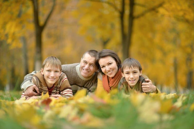 Portret van gelukkige familie royalty-vrije stock fotografie
