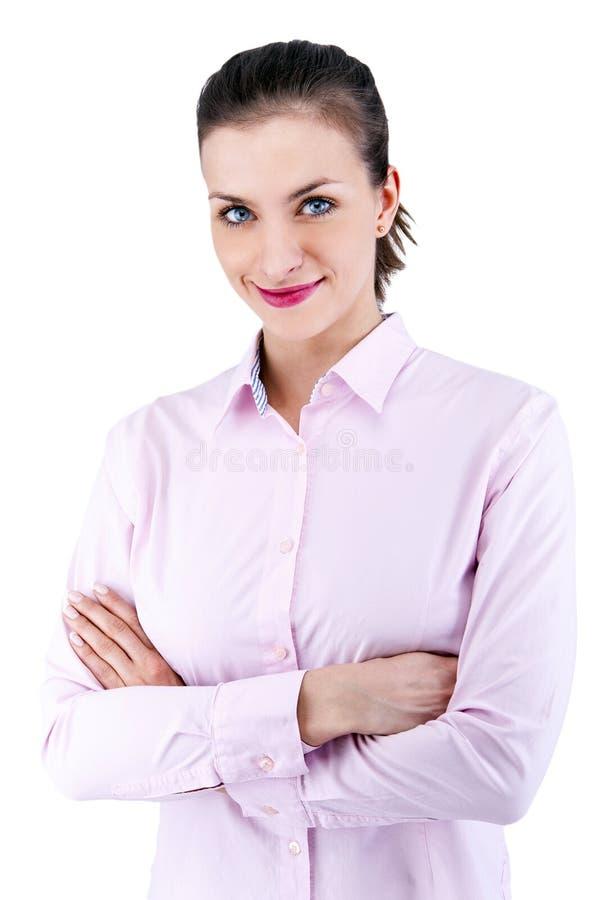 Portret van gelukkige jonge bedrijfsvrouw royalty-vrije stock fotografie