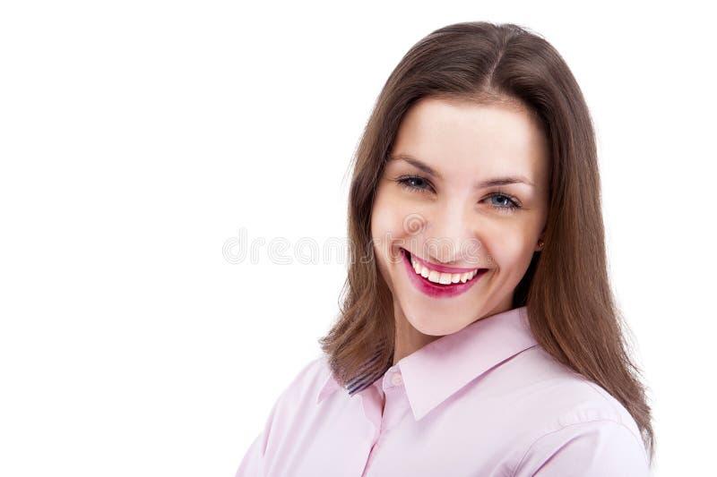 Portret van gelukkige jonge bedrijfsvrouw royalty-vrije stock afbeeldingen