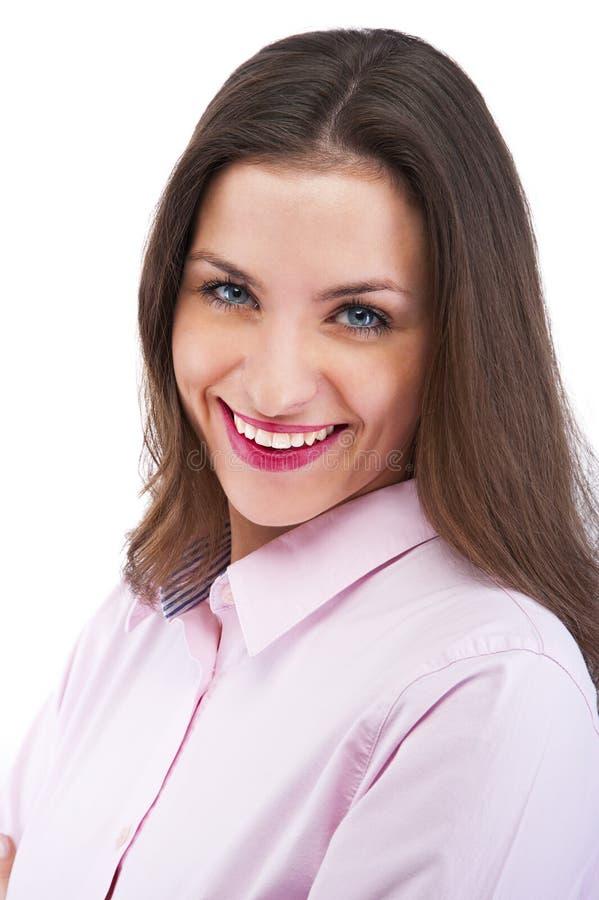 Portret van gelukkige jonge bedrijfsvrouw royalty-vrije stock foto