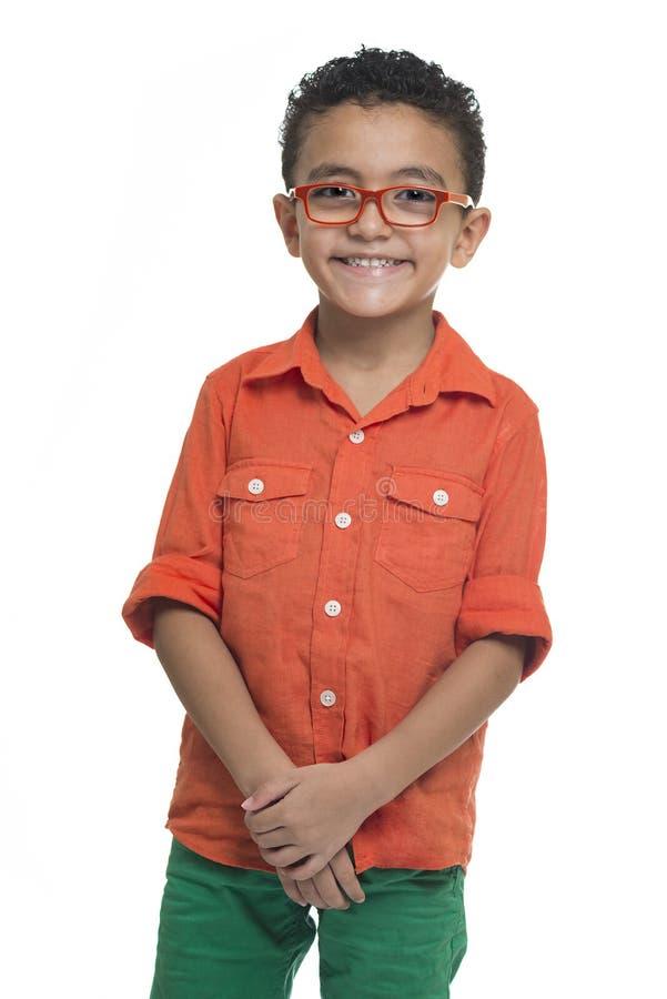 Portret van Gelukkige Jonge Jongensglimlach stock foto