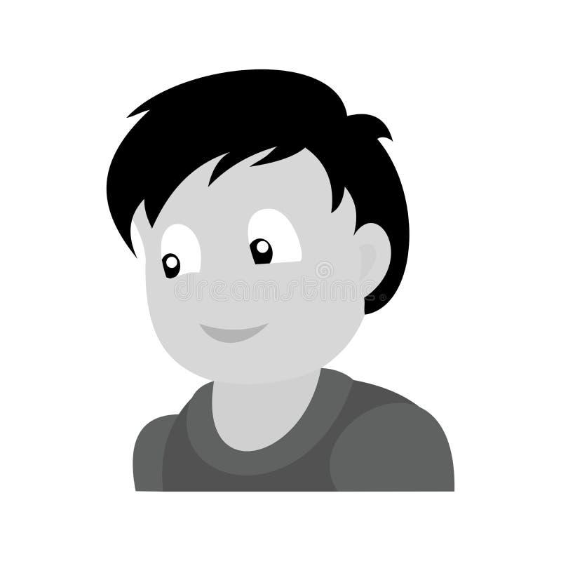 Portret van gelukkige jongen royalty-vrije illustratie
