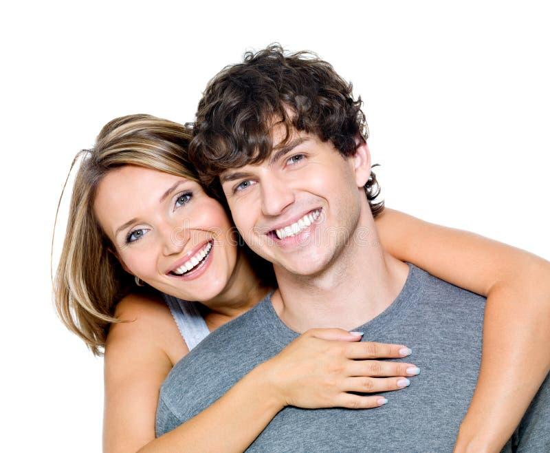 Portret van gelukkige mensen royalty-vrije stock foto