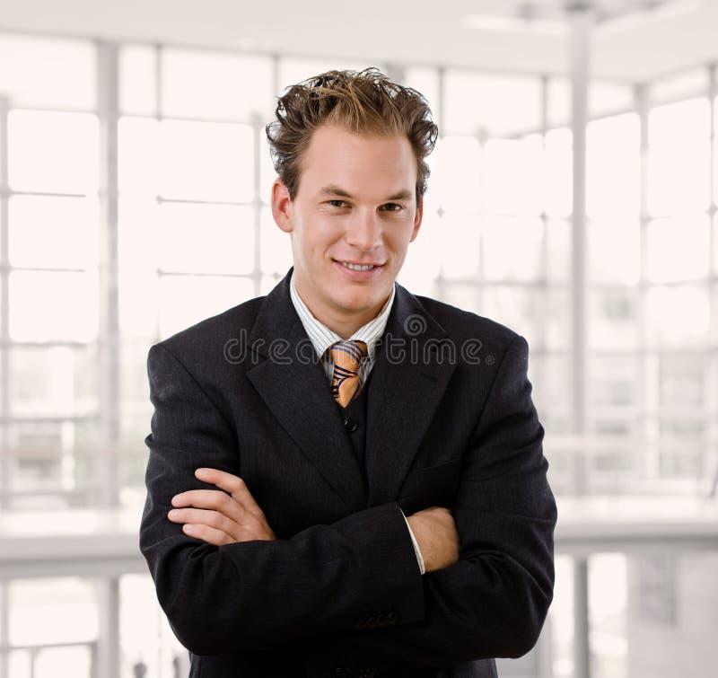 Portret van gelukkige zakenman royalty-vrije stock afbeeldingen