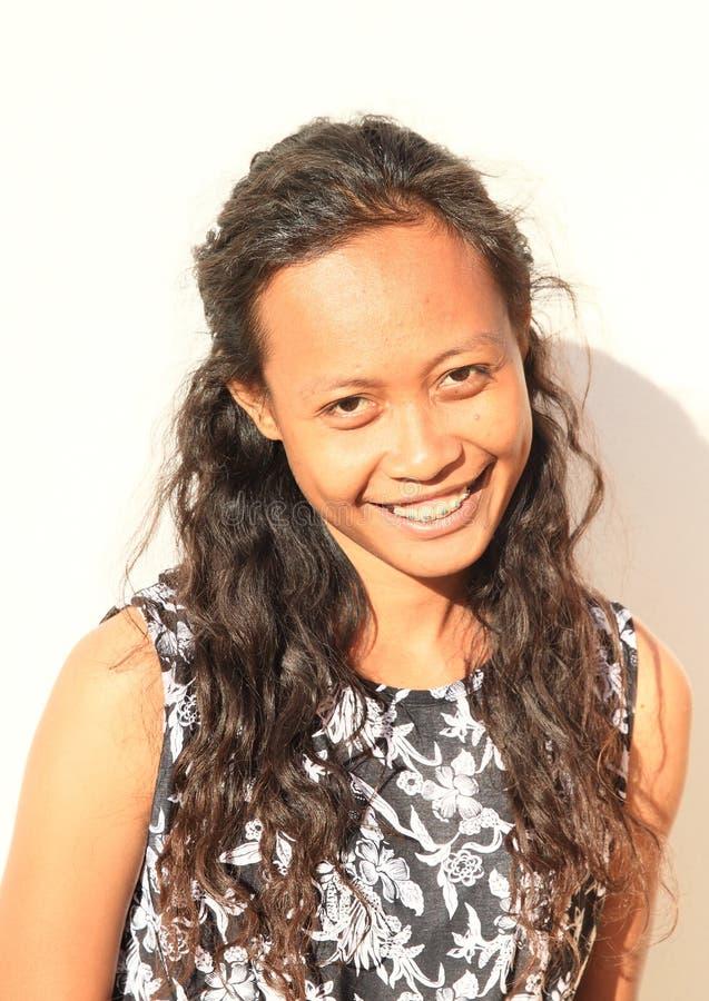 Portret van glimlachend meisje stock foto