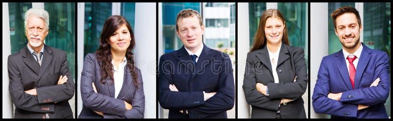 Portret van glimlachende bedrijfsmensen stock afbeelding