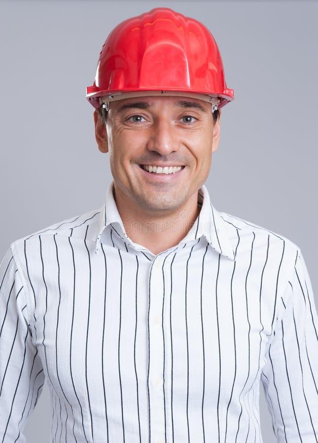 Portret van glimlachende ingenieur royalty-vrije stock afbeeldingen