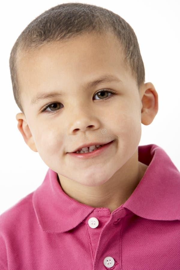Portret van Glimlachende Jonge Jongen royalty-vrije stock foto's