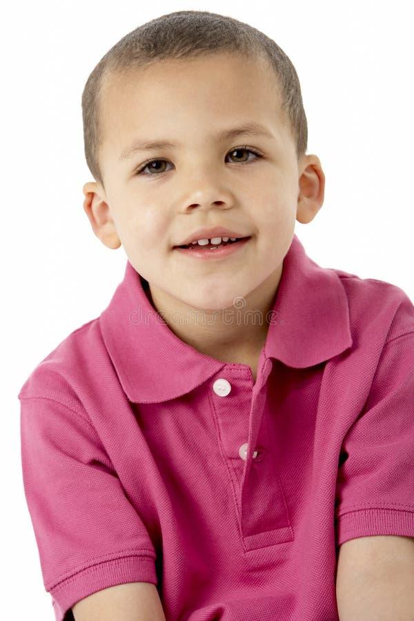 Portret van Glimlachende Jonge Jongen stock afbeelding