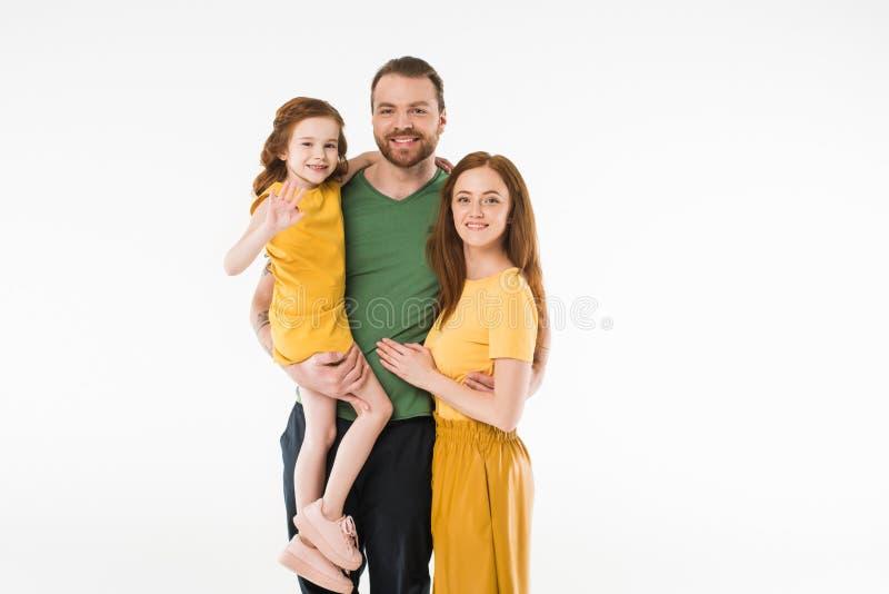 Portret van glimlachende modieuze familie royalty-vrije stock foto
