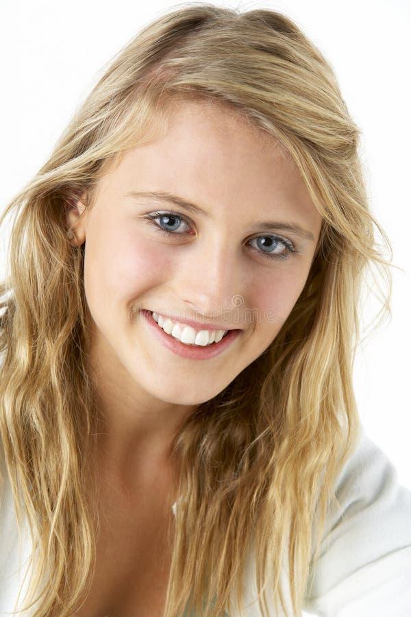 Portret van Glimlachende Tiener stock afbeeldingen